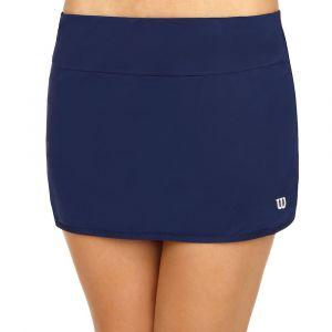 Wilson Femme Jupe de Tennis, W Team 12.5 Skirt, Polyester/Spandex, Bleu (Blue Depths), Taille M, WRA766203
