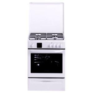 Brandt KMP1018W - Cuisinière mixte 4 brûleurs et four électrique