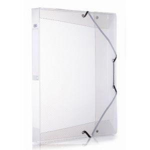 Elba Chemise box plastique 24 x 32 cm dos 4 cm incolore - Lot de 9