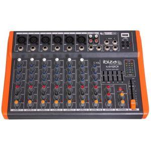 Ibiza Sound Ibis MX801 Table de Mixage Musique à 8 USB Noir