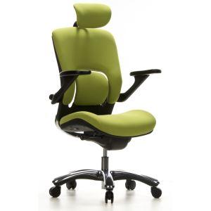 hjh OFFICE Siège de bureau pivotant Vapor Lux en tissu et polyester