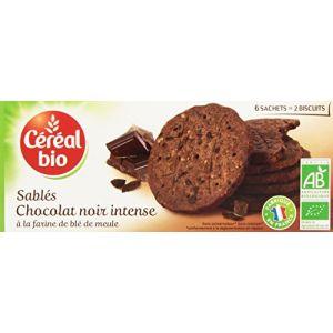 Céréal bio Sablés Chocolat Noir Intense 6 Sachets de 2 Biscuits 132 g