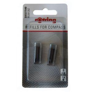 Rotring S0327540 - Mines de rechange pour compas, blister de 2
