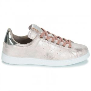 Victoria Tenis Metalizado, Baskets Femmes, Rose