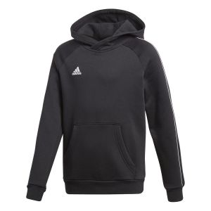 Adidas Core18 Hoody Y Sweat-Shirt Enfant, Noir/Blanc, 140