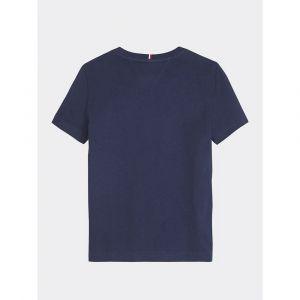 Tommy Hilfiger Essential Tee S/s T- T-Shirt, Bleu (Twilight Navy 654-860 C87), Ans (Taille Fabricant: 16) Garçon