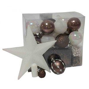 Feerie Lights Kit de 44 décorations pour sapin de Noël (guirlande, boules et cimier)