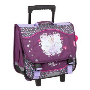 Kid'abord BELLA SARA Cartable à Roulette - 2 Compartiments - 38 cm - Violet - Primaire - Enfant Fille - Polyester - Fermeture tucks - Violet - 2 compartiments - 2 Roues - Dimensions : 38 x 15 x 32 cm