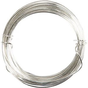 Creotime CC Hobby - Fil argenté, ép. 0,6 mm, argent, 10m- Fils, ficelles et a