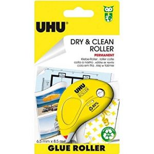 UHU Dry & Clean Permanent - Roller de colle 8,5 x 6,5 mm