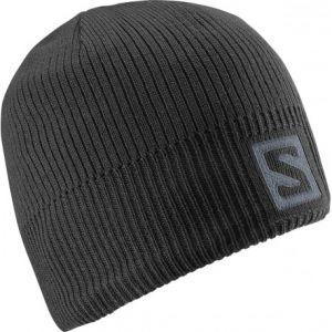 Salomon Bonnets Logo Beanie Black