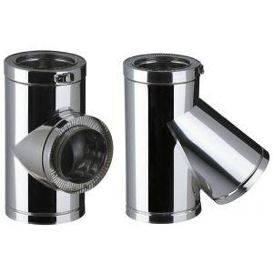 Poujoulat Té THERMINOX TI , diamètre 180 mm Réf. T 90 180 TI / 21180050