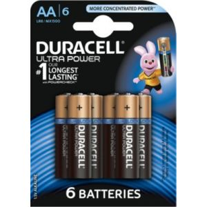 Duracell 6 Piles Alcaline Ultra Power AA