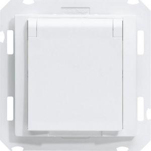 Hager WK735B kallysta Prise aspi avec contact Blanc
