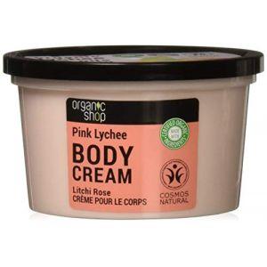 Organic Shop Crème pour le corps Organic Litchi rose 250 ml