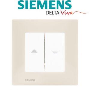 Siemens Interrupteur Volet Roulant Blanc Delta Viva + Plaque Beige