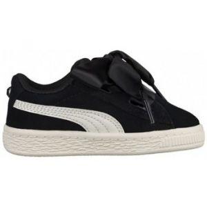 Puma Suede Heart Jewel PS, Sneakers Basses Fille, Noir Black-Whisper White, 35 EU
