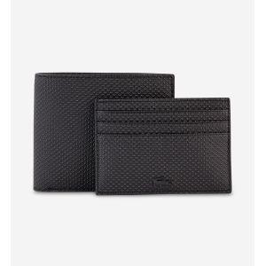 Lacoste Coffret portefeuille et porte-cartes cuir chantaco Noir