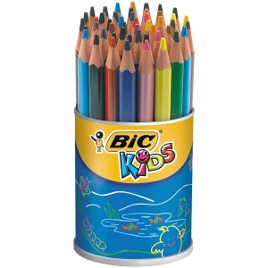 Bic 400170 - Pot de 48 crayons de couleur Evolution assortis