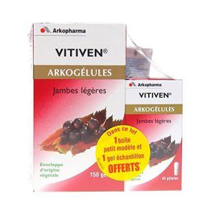 Arkopharma Arkogélules Vitiven - Jambes légères - 150 gélules