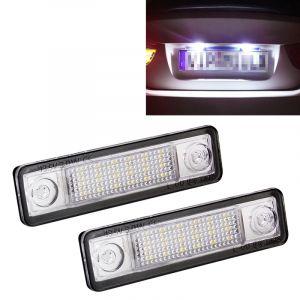 WeWood 2 Pcs Dc 12v 2w 120lm 6000k Led Éclairage De Plaque D'immatriculation 18-Smd Ampoules Lampes Pour Astra F 91-98, G Estate F69 98-05, Opel Corsa B 93-00, Omega A 86-94