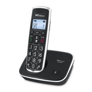 SPC 7608N Téléphone DECT Grandes Touches AG20 ID LCD ECO Noir