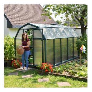 Palram Serre de jardin en polycarbonate Rion Eco Grow 6,65 m², Ancrage au sol Non - longueur : 3m26