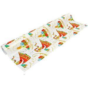 Beaumont Papier cadeau Père Noël et son traîneau largeur 50 cm