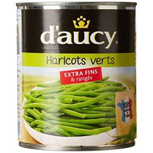 d'aucy Haricots verts extra fins et rangées - La boîte de 440g net égoutté