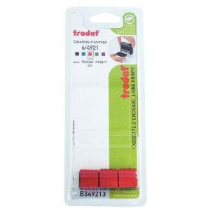 Trodat Recharge cassette encreurs 6/4921 rouge - Blister de 3