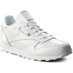 Reebok Classic Leather Patent, Sneakers Basses Fille, Blanc (White), 38 EU