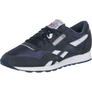 Reebok Classic Nylon, 39749 Sneakers Basses Homme - Bleu (team Navy/platinum), 39 EU