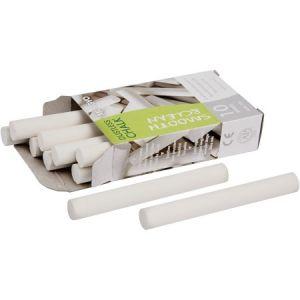 Creotime Lot de craies blanches pour tableau - 1 x 8 cm - 10 pcs