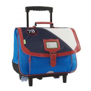 Tann's Cartable à roulettes 38 cm - Les Fantaisies - Océan - Bleu