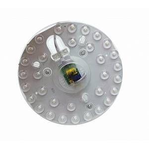 Silamp Tube LED T9 12W 220V 120 Plaque Circulaire Plafond Ø125 - couleur eclairage : Blanc Neutre 4000K - 5500K