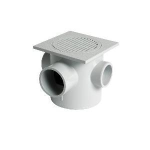 Nicoll SEMX15 - Siphonnette à entrées multiples Diam 50-50-50-63 platine orientable 150x150