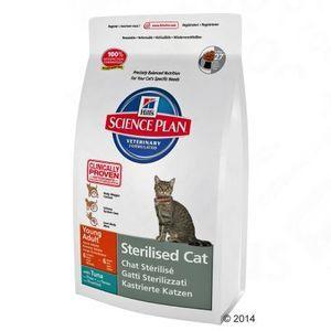 Hill's Croquettes Feline pour chats stérilisés jeune adulte au thon (sac de 1,5  kg)