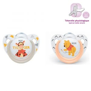 Nuk 2 sucettes taille 1 Winnie The Pooh