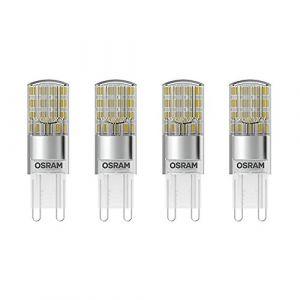Osram 4058075043022 - Capsules LED - Culot G9 - 2,6W Equivalent 30W - Blanc Chaud 2700K - Lot de 4