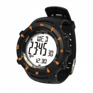 La Crosse Technology Montre WTXG11 - Orange - Altimètre, Baromètre, Boussole