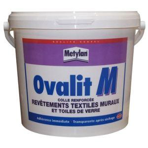 Metylan Ovalit M - Colle renforcée revêtements textiles muraux et toiles de verre (5 Kg)