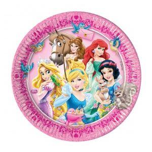 8 assiettes Princesses Disney (23 cm)