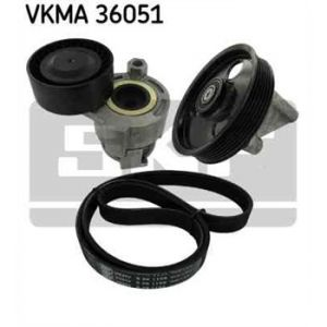 SKF Kit de courroies d'accessoires VKMA36051