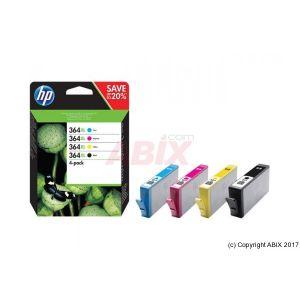 HP 364XL - pack de 4 - à rendement élevé - noir, jaune, cyan, magenta - originale - cartouche d'encre