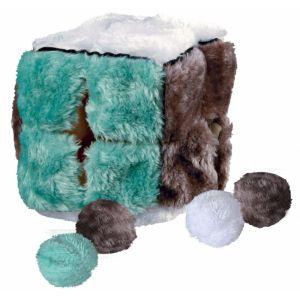 Trixie Cube Peluche Avec 4 Balles Catnip, 14 × 14 × 14 Cm - 4104