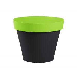 Eda Plastiques Style - Pot de fleur rond bicolore Ø40 x 32 cm