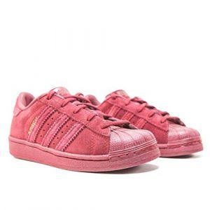 Adidas Superstar C, Basket Mode Fille-Rouge