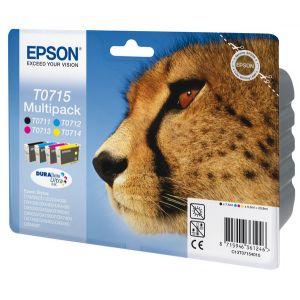 Epson T0715 - Multipack de 4 cartouches d'encre (noire, cyan, magenta et jaune)