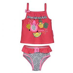 Image de Petit Béguin Maillot de bain 2 pièces top + slip bébé fille Fruity Party - Taille 9 mois (74 cm)