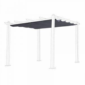 Alice's Garden Toile de Toit Grise pour tonnelle 3x3m Condate - Toile de Rechange pergola, Toile de Remplacement